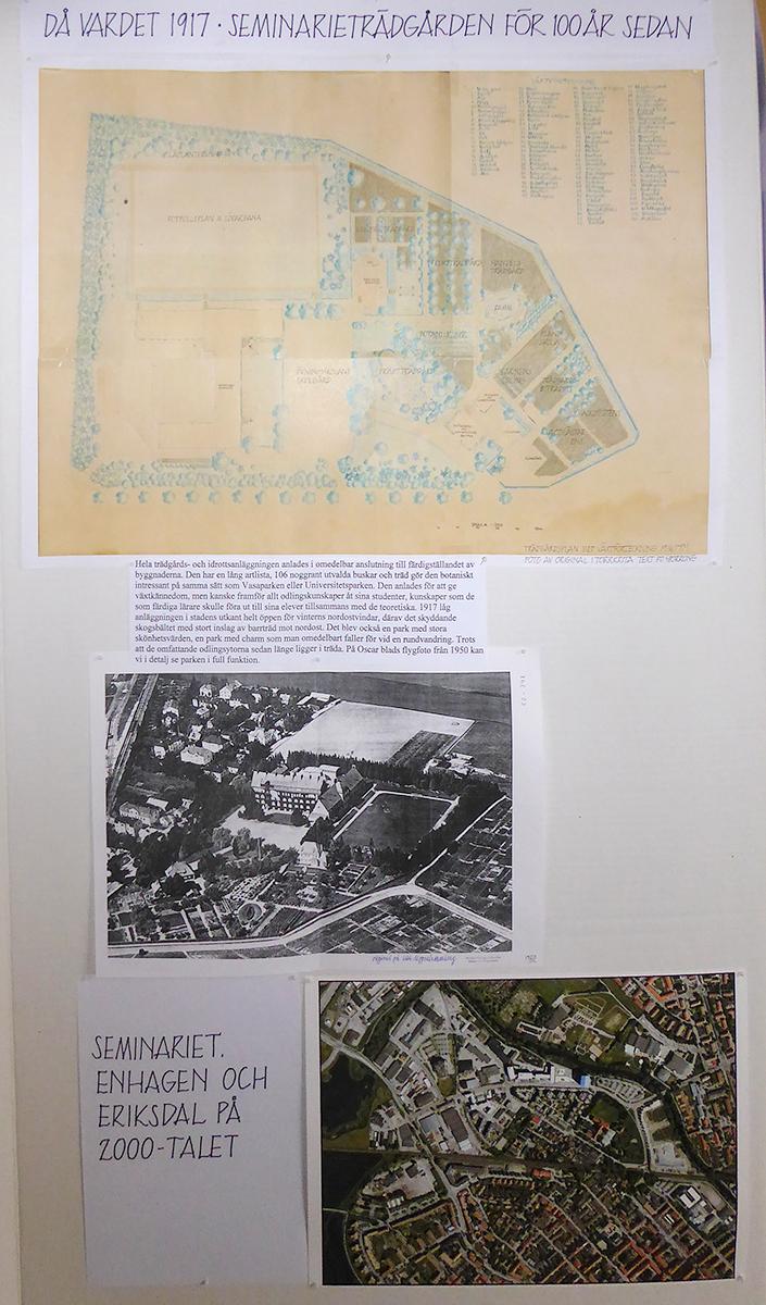 Trädgårdsplanen med växtförteckning i vår utställning.