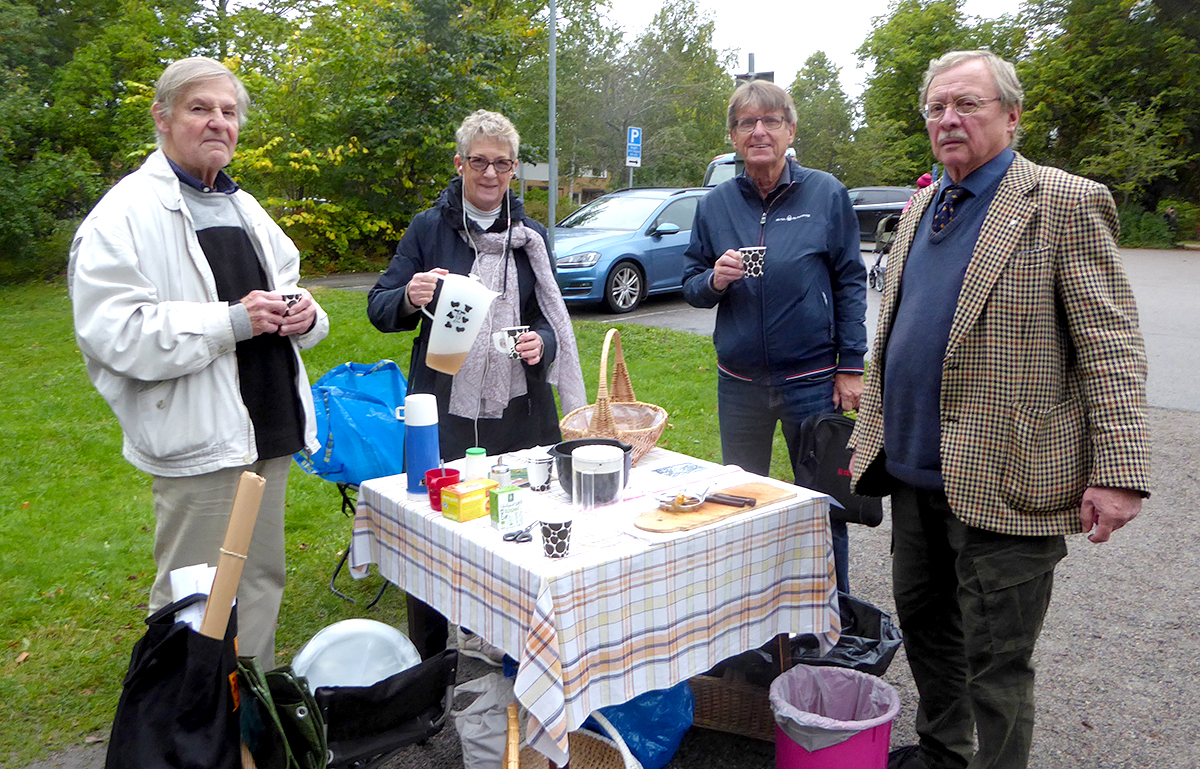 Seminarieparkens vänner P O Sporrong, Karin Ericsson, Leif Wernberg och Mats Jonsson.